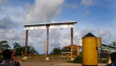 Welkam long PNG (Border Gate)