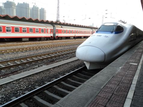 Fast train at Shi Jia Zhuang