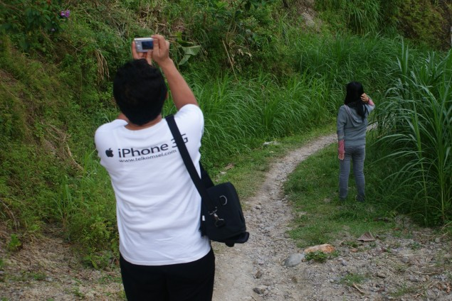 Our back view