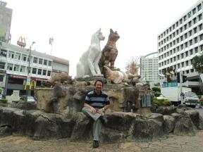 Cat Statue in Kuching City, Sarawak, Malaysia