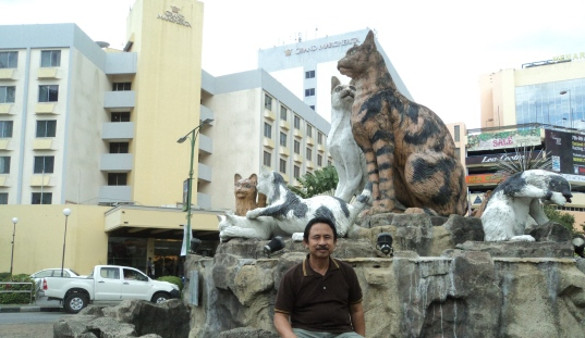 Cat Statue in Sarawak Malaysia