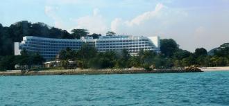 Rasa Sentosa Resort from the sea