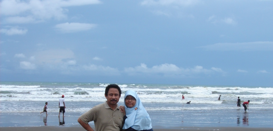 Widarapayung Beach with my daughter